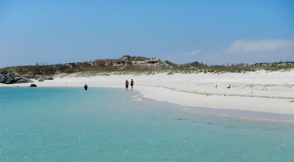 Paseo por Areoso en la Isla de Arousa