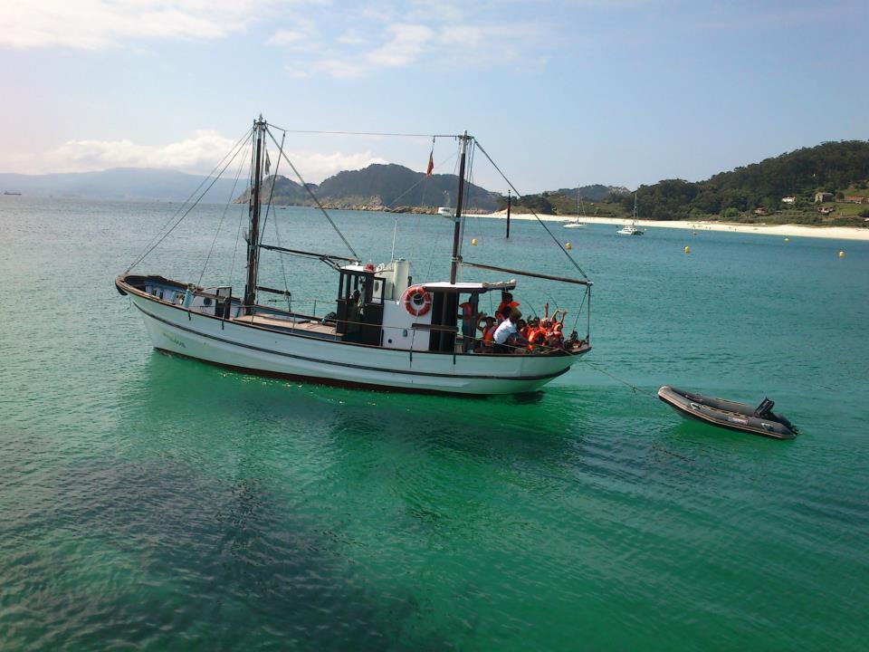 Turista sostenible Barco tradicional