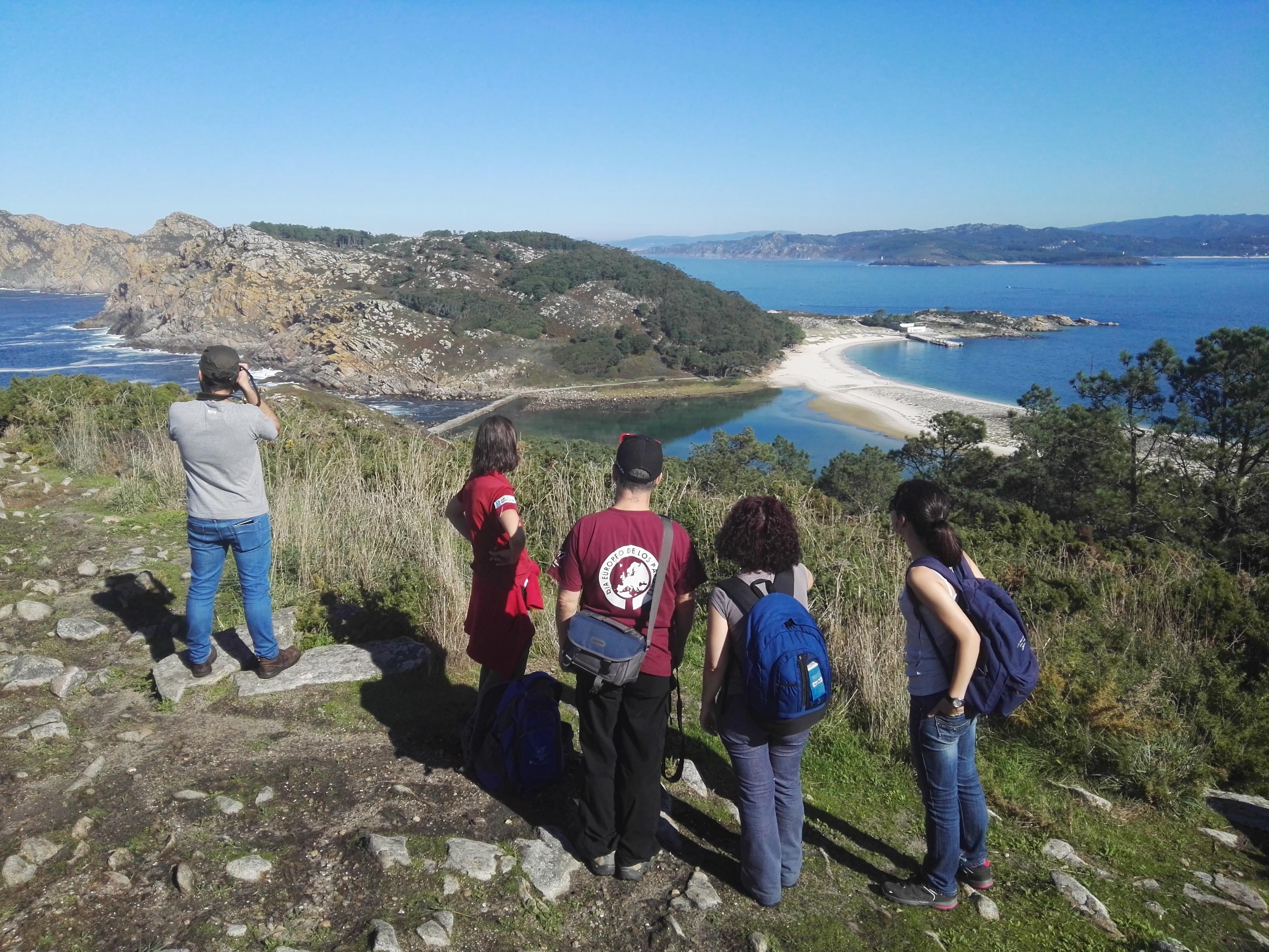 Turista sostenible Cíes