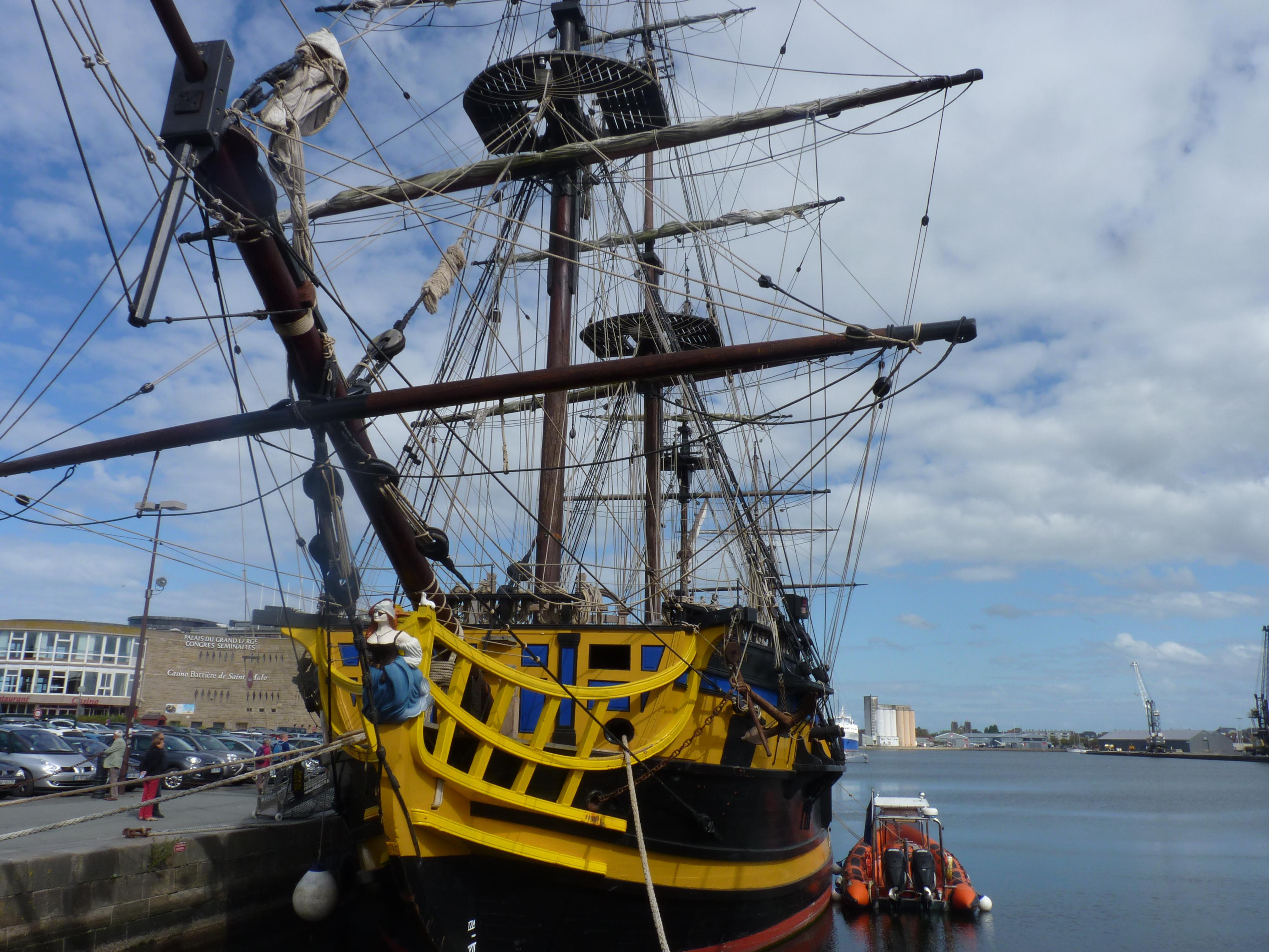 barco de corsario en Saint-Malo