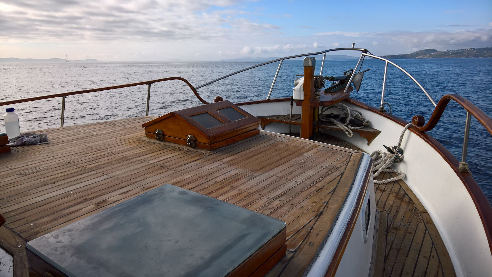 paseo en barco ria de aldán