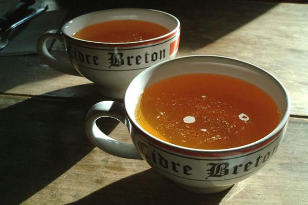 gastronomía bretona Bolée de sidra