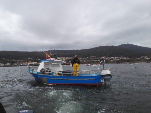 Ruta de las artes de pesca en barco en la ría de Muros-Noia