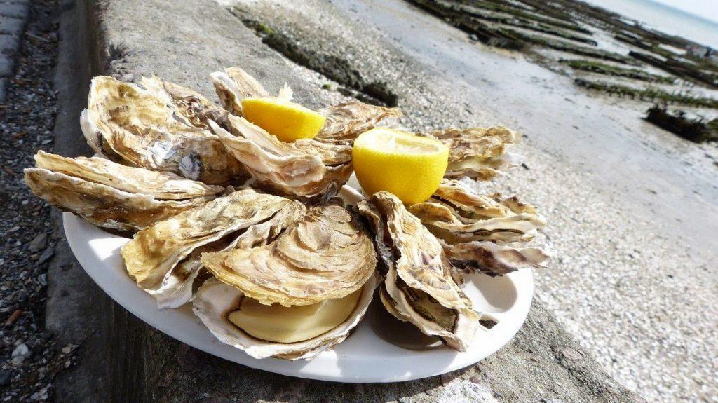 gastronomía bretona ostras