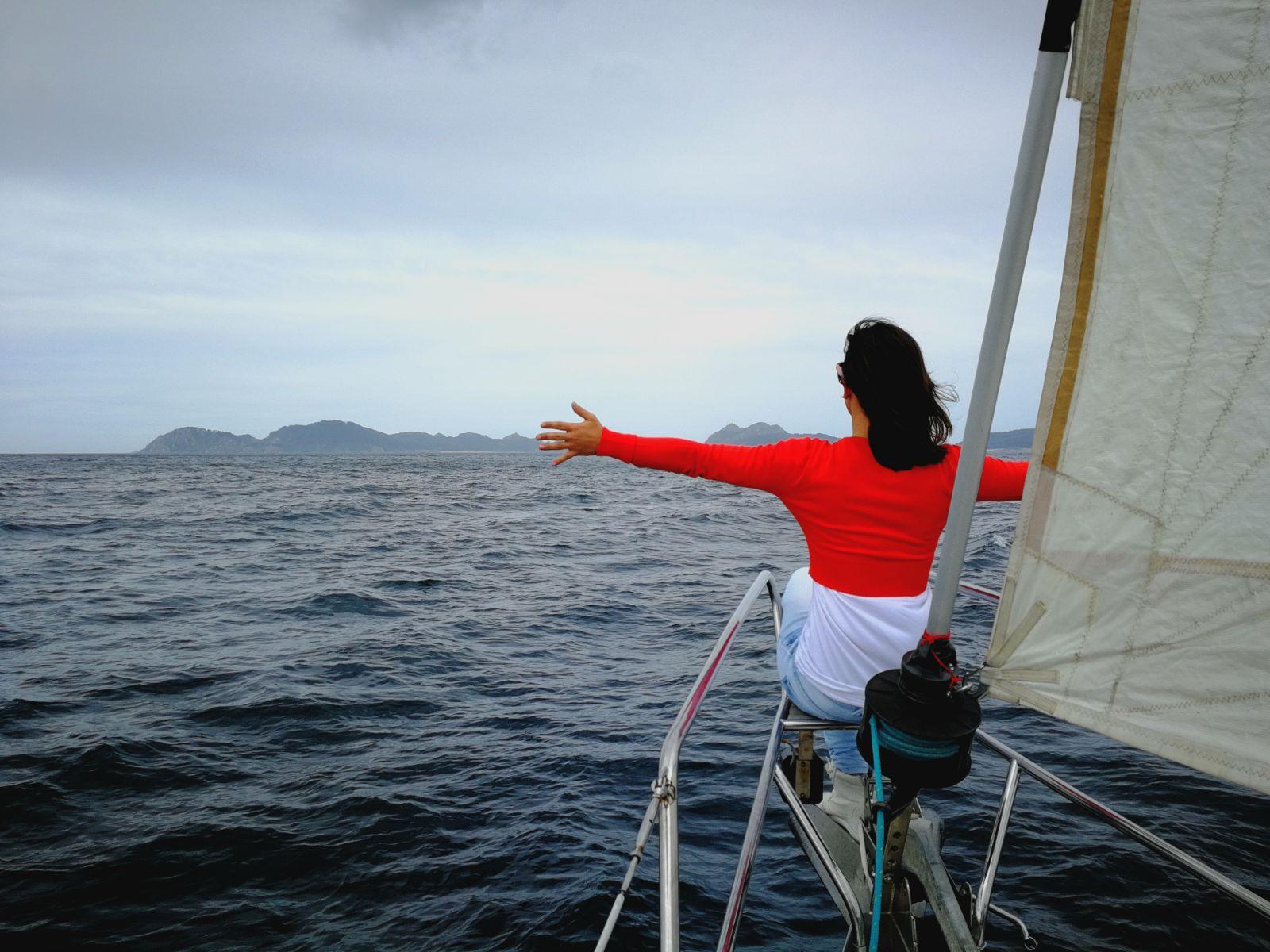 paseo en velero ría de Vigo