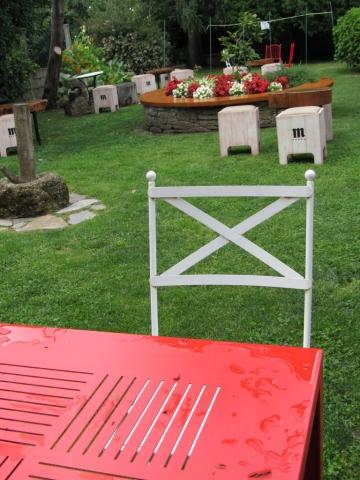 Detalle mobiliario Jardín A Horta do Obradoiro Kike piñeiro