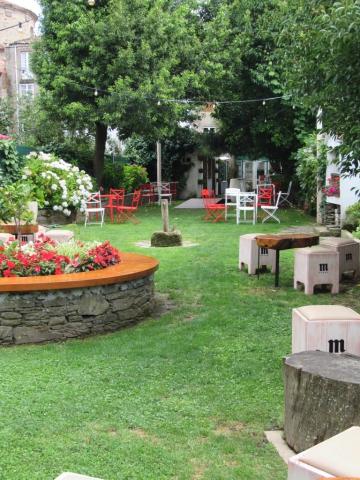 Jardín de A Horta do Obradoiro fondo Kike Piñeiro