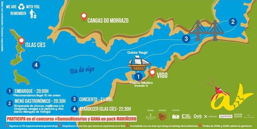 mapa ría de Vigo