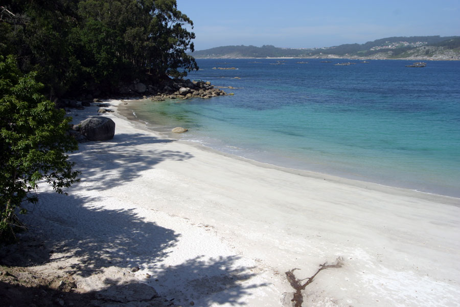 Playa castiñeiras aldán
