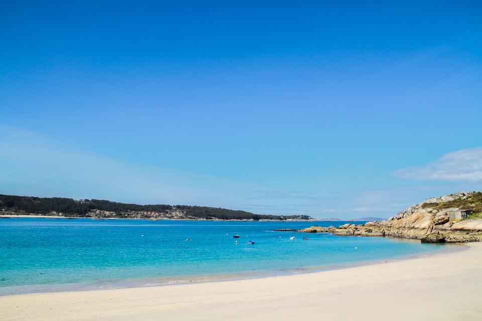 Playa Menduiña Aldán.