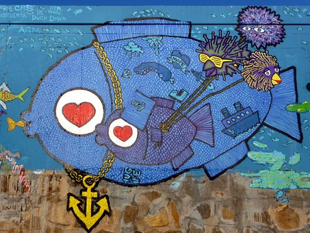 Graffiti turismo marinero