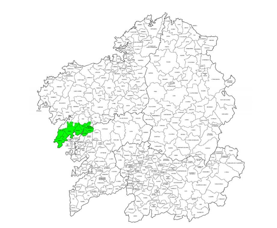 Vino Barbanza e Iria mapa