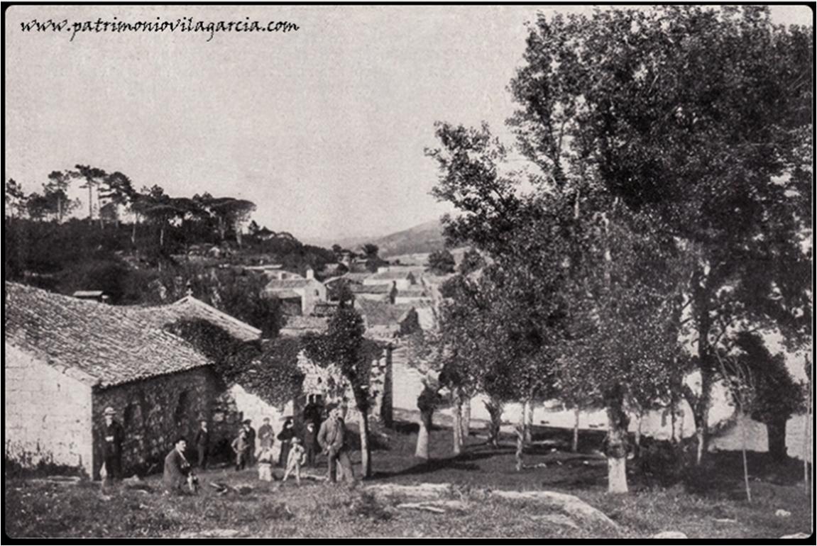 Fotografía antigua en la aldea de la isla de Cortegada