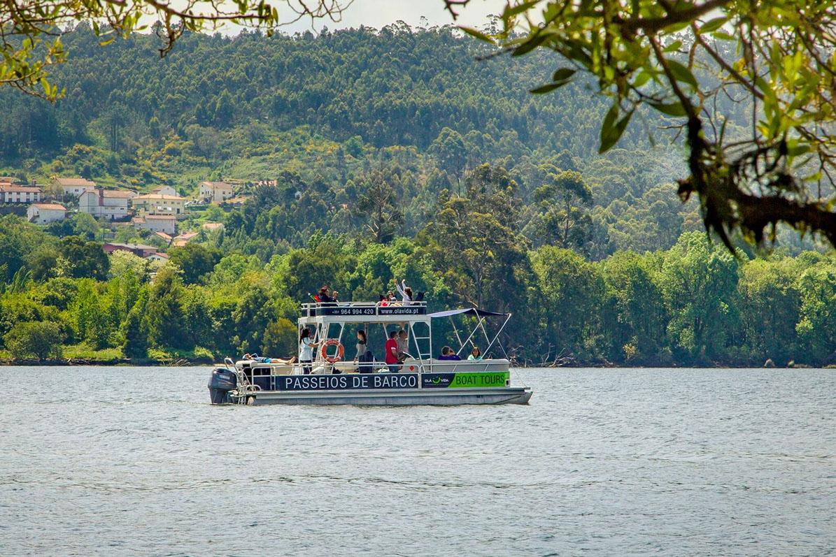 paseo por el río Miño en barco