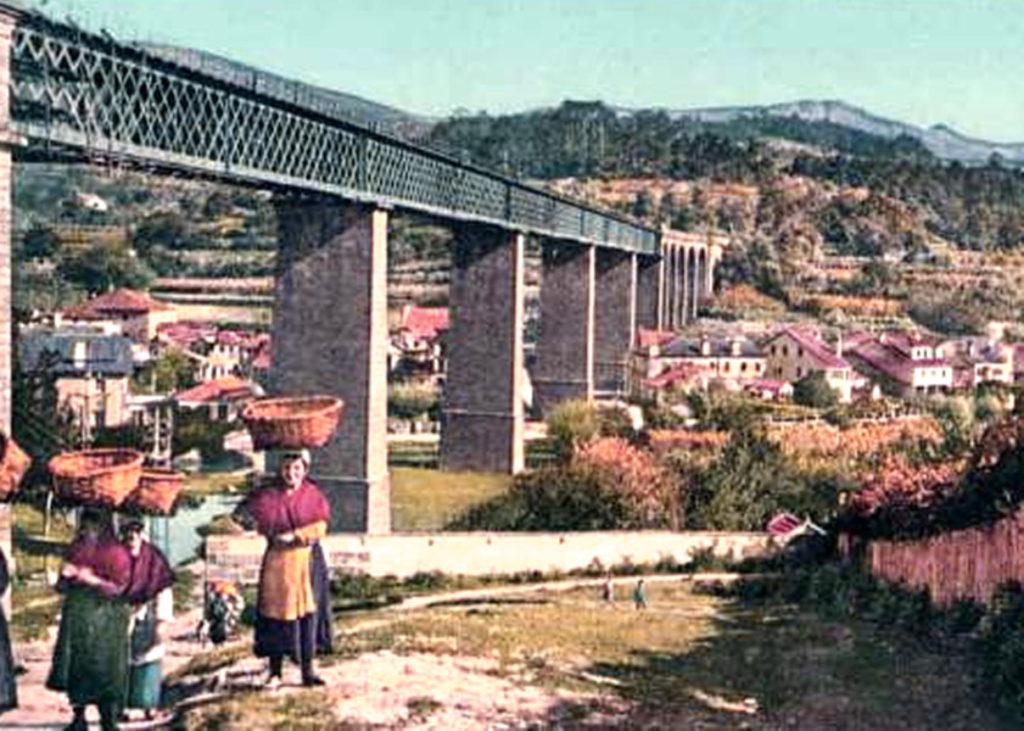 Viaducto de Redondela principios XX