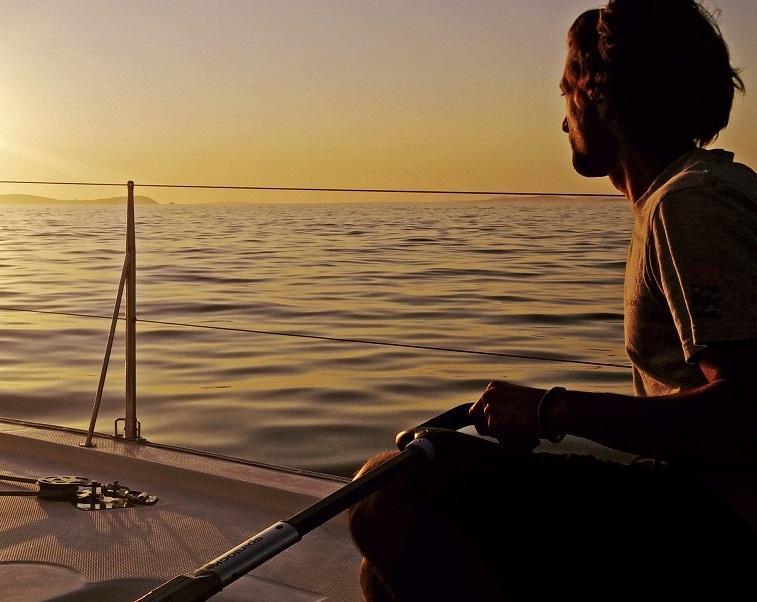 navegar a vela en Baiona