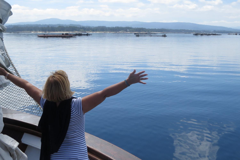 Paseo en barco por la ría de Arousa