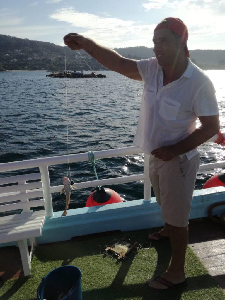 jornada de pesca en Aldán