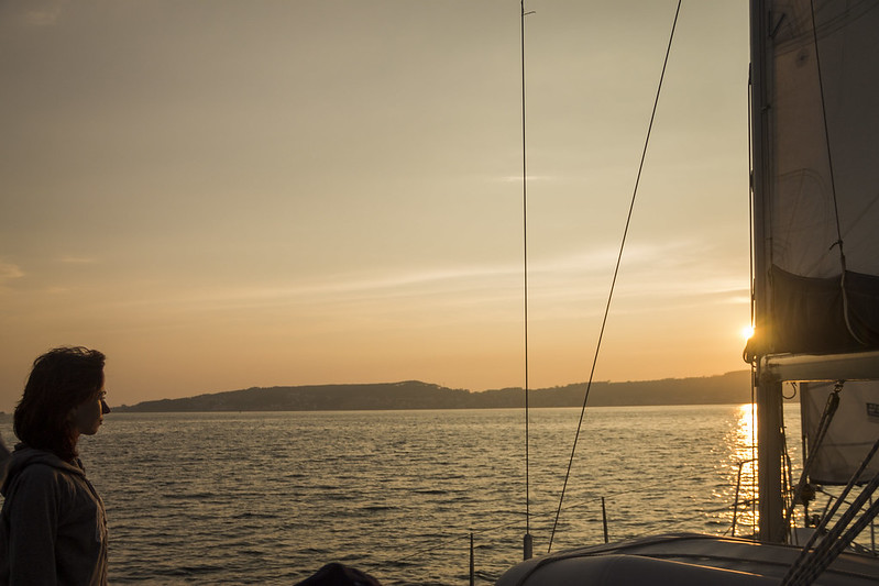 Alquiler velero ría de Arousa