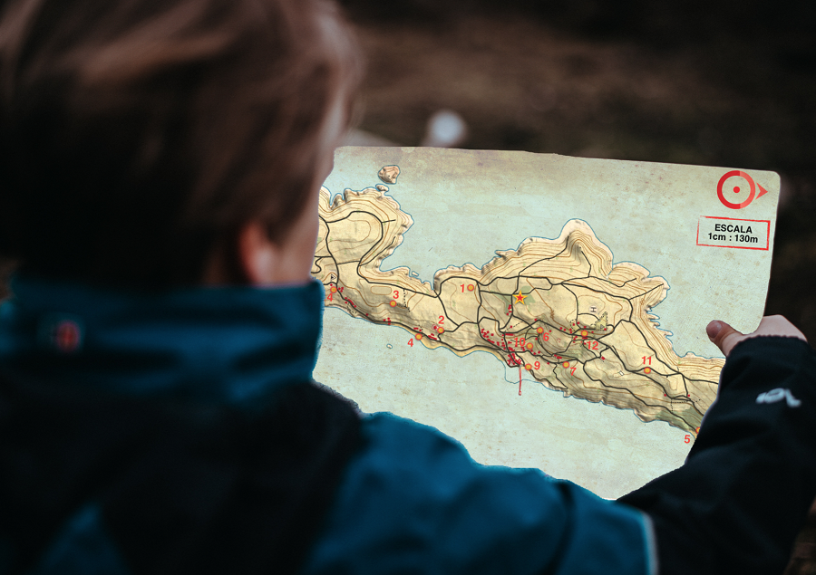 mapa orientación teambuilding Galicia