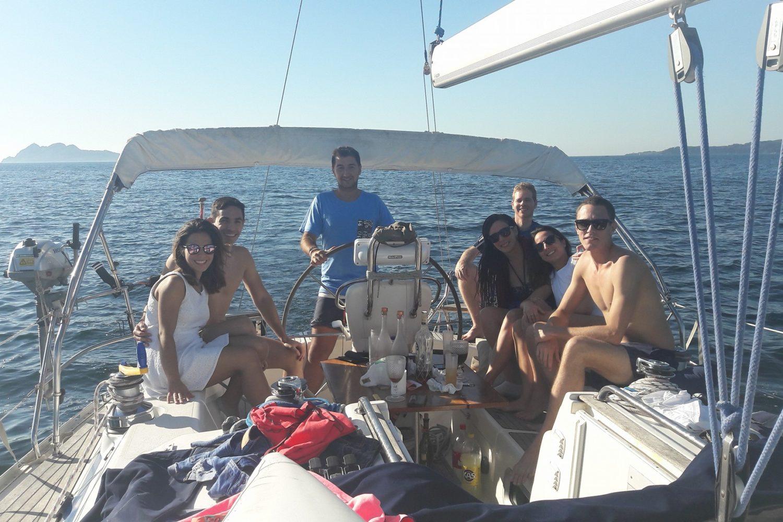 Fin de semana en velero Rías Baixas