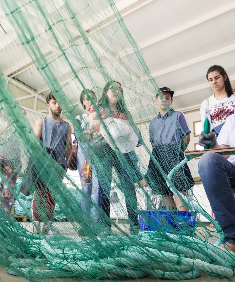 Taller de redes de pesca