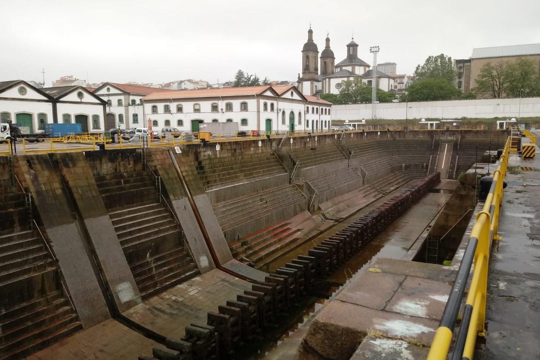 Visita al dique seco Ferrol