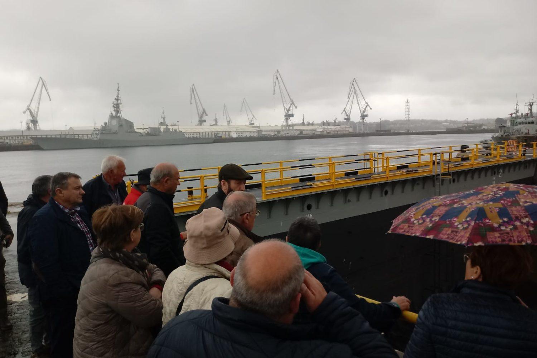 Visita al dique Ferrol