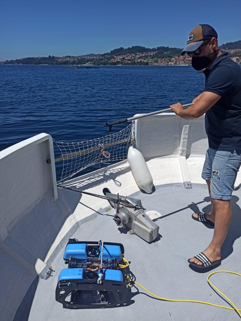 Barco científico en Vigo