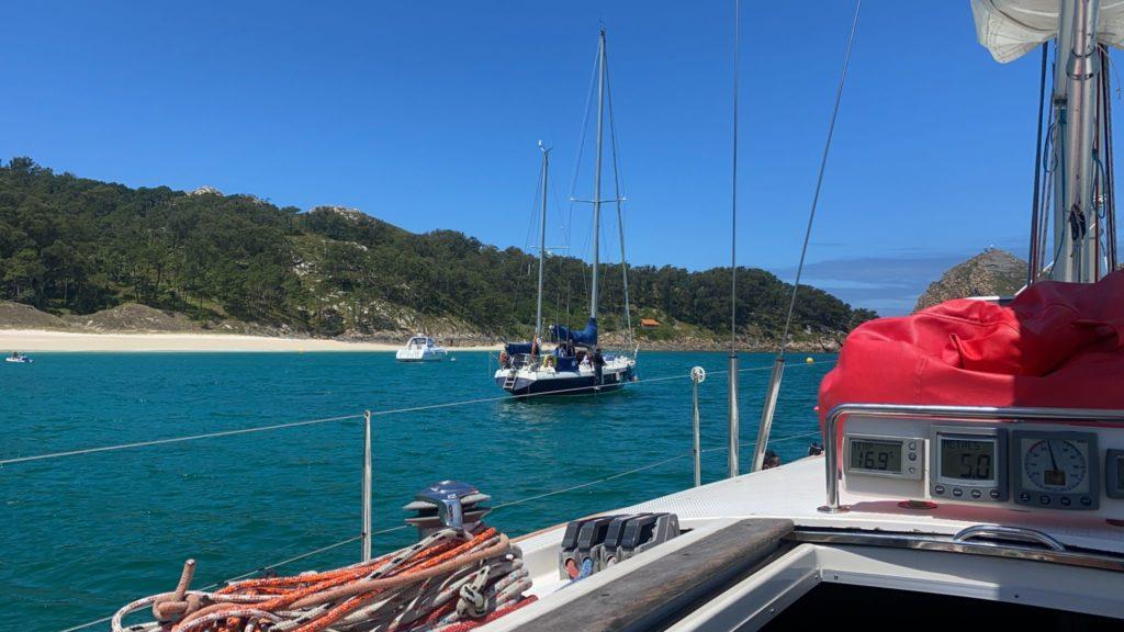 Cíes en velero desde Vigo
