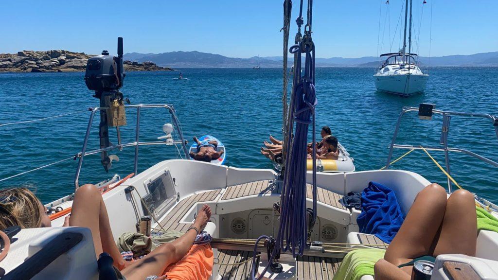 alquiler barco a Cíes