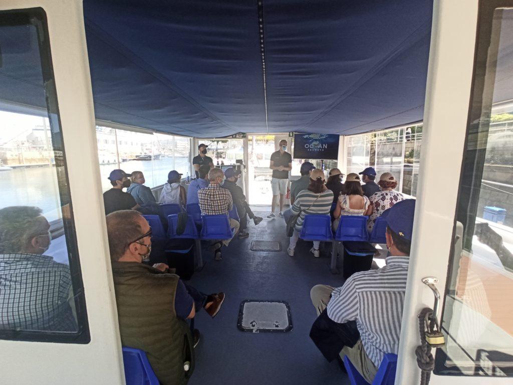 paseo por la ría de Vigo en barco
